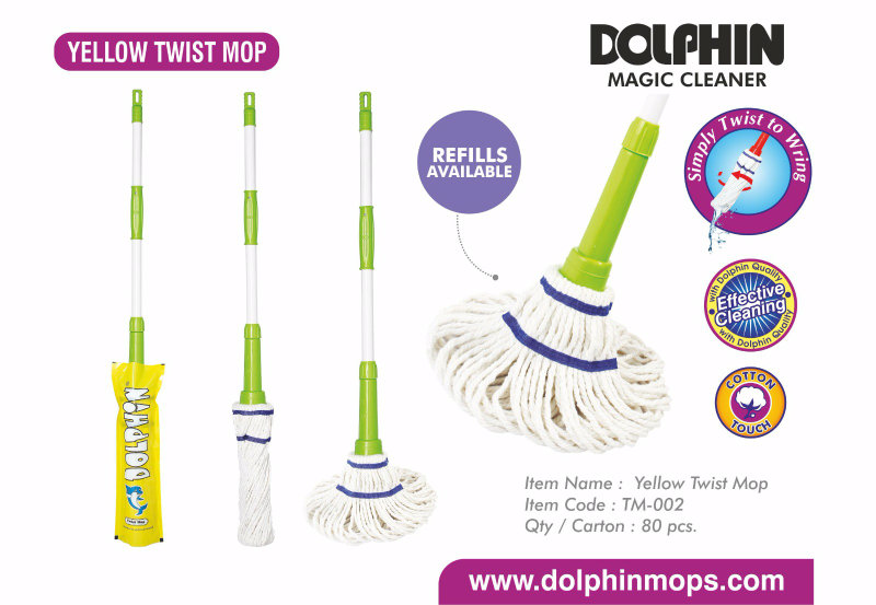 Yellow twist mop TM-002