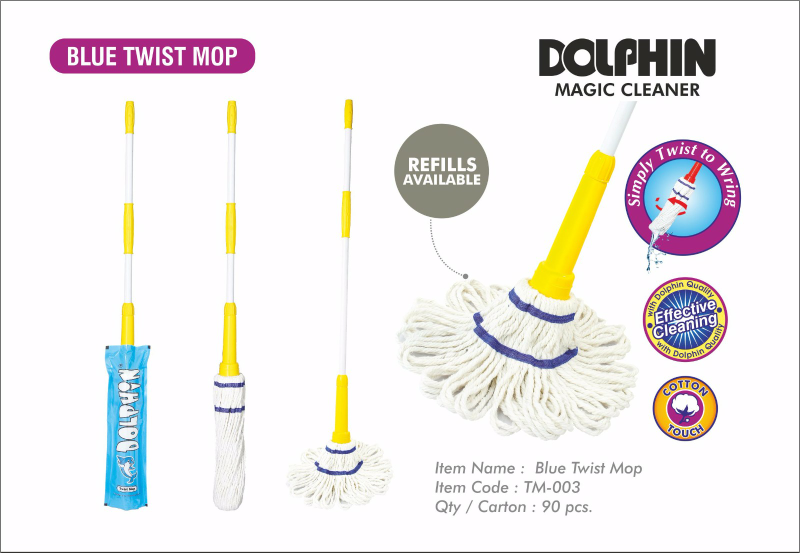Blue twist mop TM-003